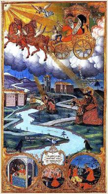 Възнесението на Свети пророк Илия , икона  с.Тешево
