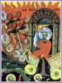 Изпълнен с Дух Божий, Свети Илия успял да заключи небето