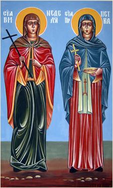 Стенопис на Света Пекта и Света Неделя