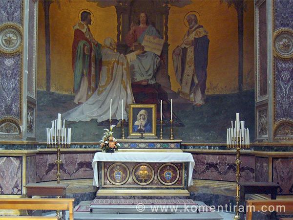 Св.Св. Кирил и Методий, стенопис от базилика Сан Клементе, Рим