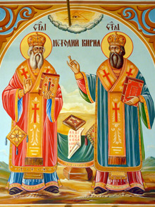 Св.Св. Кирил и Методий, стенопис
